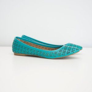 Fergalicious Turquoise Cutout Flats